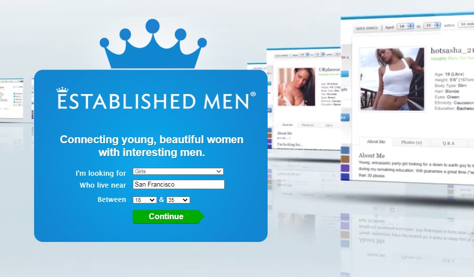Established Men Review 2021– Perfect Spot To Find a Rich Man and a Young Girl!